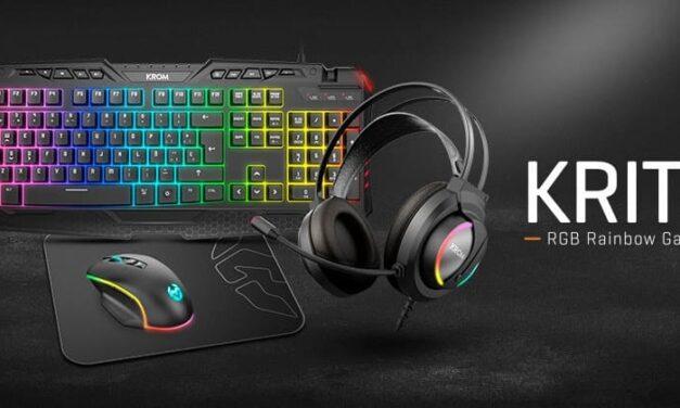 Krom presenta Kritic, un completo pack de periféricos gaming con iluminación RGB