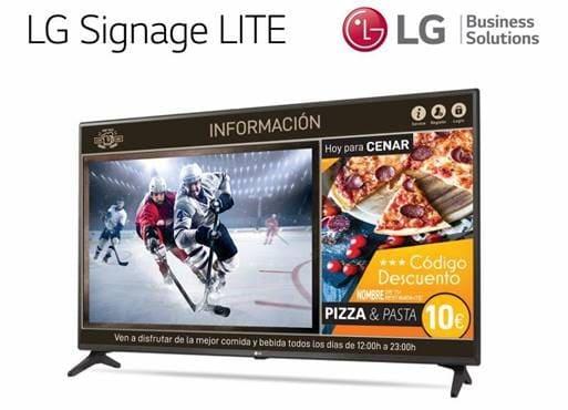 LG combina información y entretenimiento en sus nuevas televisiones profesionales LG Signage Lite