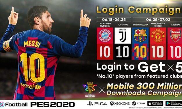 eFootball PES 2020 para móviles alcanza los 300 millones de descargas