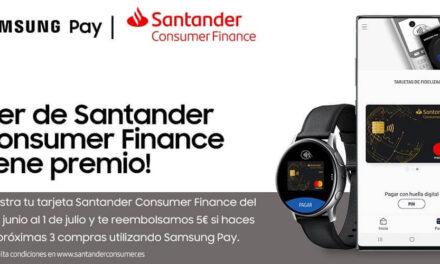 Santander Consumer Finance se incorpora al servicio de pago móvil Samsung Pay