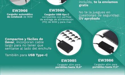 Ewent ofrece consejos para saber elegir el mejor cargador para un ordenador portátil