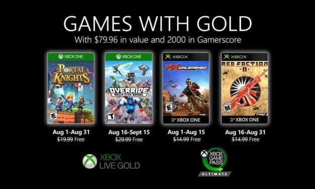 Anunciados los Games with Gold de agosto de 2020