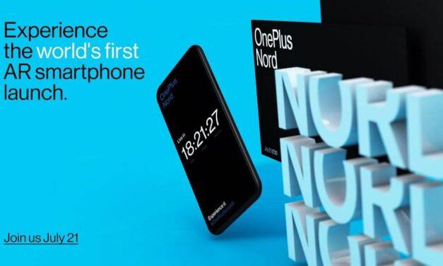 OnePlus Nord se presentará el próximo 21 de Julio en el primer lanzamiento de un smartphone en Realidad Aumentada