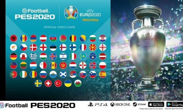 Konami anuncia el evento de eFootball PES 2020 para consola y móvil con el modo de juego de la EURO 2020