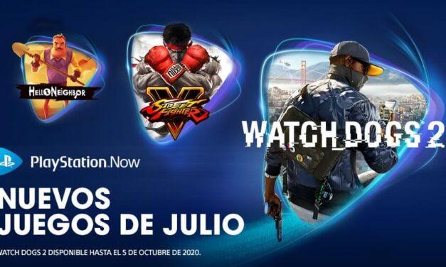 Watch Dogs 2, Street Fighter V y Hello Neighbor entre las novedades del mes de julio en PlayStation Now