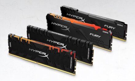 HyperX lanza nuevos módulos de memoria Predator DDR4 RGB y FURY DDR4 RGB de hasta 256 GB