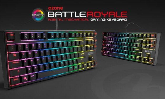 Ozone presenta Battle Royale, un teclado TKL con RGB y switches Red Cherry MX