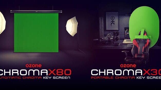 Ozone presenta Chroma X30 y Chroma X80, dos cromas perfectos para streaming, fotografía y edición de vídeo profesionales
