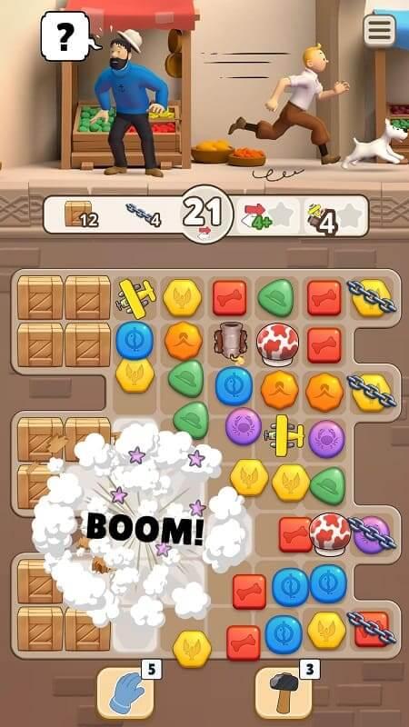 """""""Tintín Match"""" se lanza a nivel mundial para Android e iOS el lunes 31 de agosto de 2020"""
