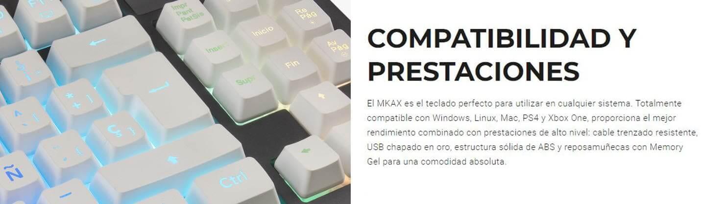 Teclado Gaming MKAX: estilo, color y diseño