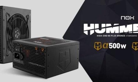 Nox lanza dos nuevas fuentes de alimentación: Hummer Alpha 500 W y Hummer Alpha 600 W, ambas con certificado 80+ Bronze