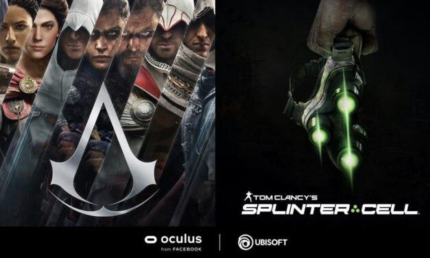 Ubisoft anuncia nuevos juegos de Assassin's Creed y Tom Clancy's Splinter Cell en RV en colaboración con Oculus