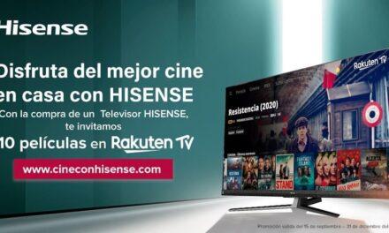 Los usuarios de Hisense podrán disfrutar del mejor cine de la plataforma Rakuten TV con la compra de uno de sus nuevos televisores