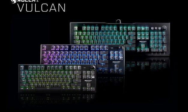 ROCCAT estrena switches ópticos y nuevas variantes de sus premiados teclados gaming para PC de la serie Vulcan