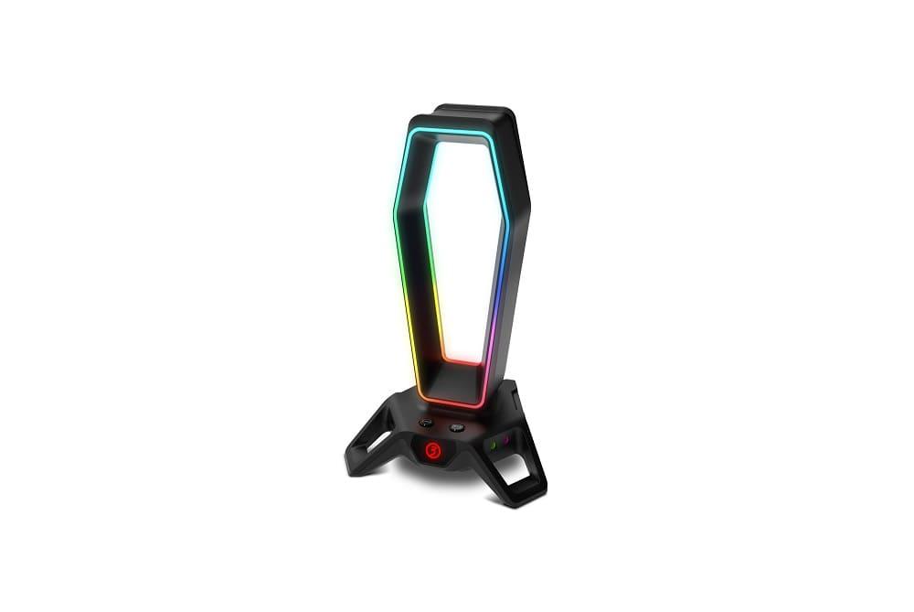 Ozone presenta Portal, un soporte gaming RGB para auriculares con sonido 7.1