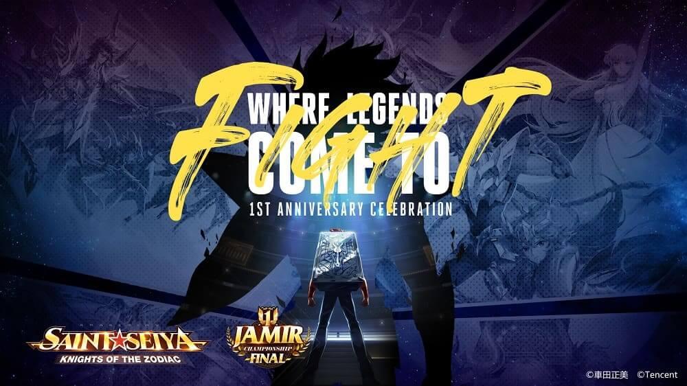 Presencia cómo los jugadores se convierten en leyendas en la final del Campeonato de Jamir de Saint Seiya Awakening: Knights of the Zodiac