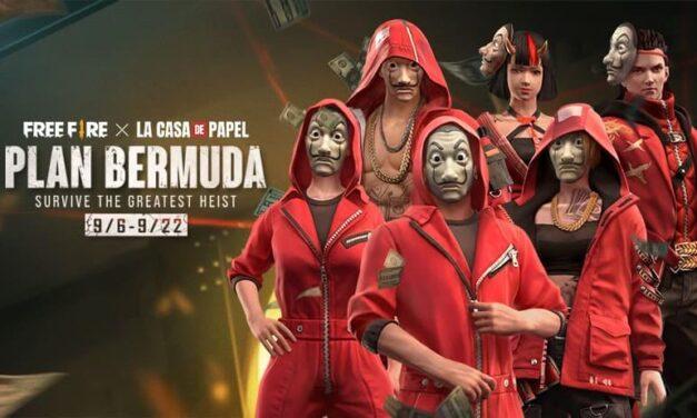 Ya está disponible el Plan Bermuda, la actualización in-game de La Casa de Papel para Free Fire