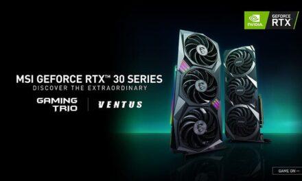 MSI Presenta la primera serie de NVIDIA GeForce RTX 30