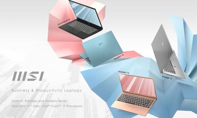 MSI entra oficialmente en el mercado de los portátiles Business