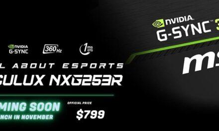 Disfruta de una experiencia Gaming que te dejará atónito con MSI Oculux NXG253R eSports Gaming Monitor
