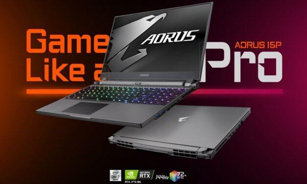 GIGABYTE presenta AORUS 15P, un portátil gaming profesional ultra delgado