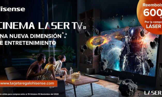 La nueva Láser TV de Hisense llega con una tarjeta regalo de MasterCard de 600 euros