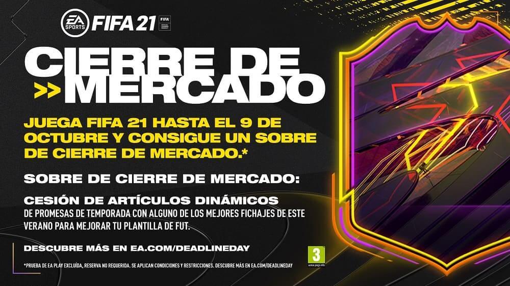 El Cierre de Mercado llega a EA SPORTS FIFA 21 con nuevos incentivos de reserva previos a su lanzamiento el 9 de octubre