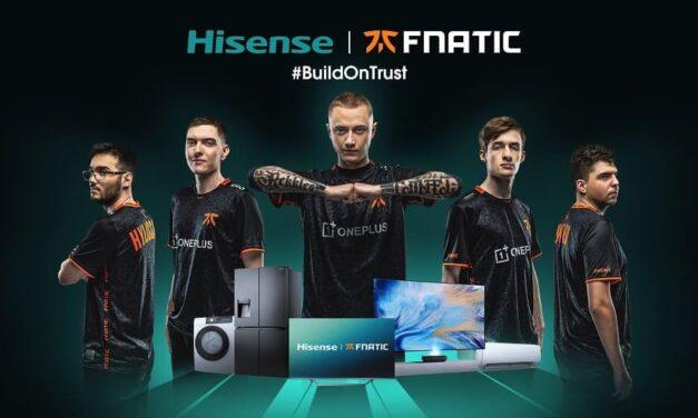 Hisense se suma al universo de los videojuegos y los eSports con el patrocinio de Fnatic