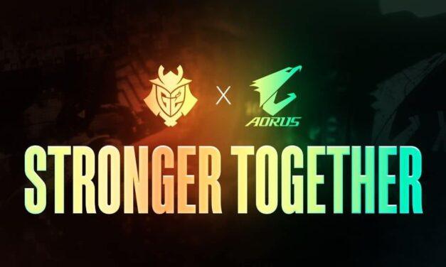 GIGABYTE AORUS y G2 Esports renuevan su asociación por un cuarto período