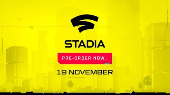 ¡Cyberpunk 2077 llegará a Stadia el 19 de noviembre! ¡Las reservas comienzan ya!