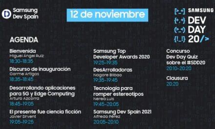 Samsung Dev Spain celebra su 11ª edición con la comunidad de desarrolladores españoles de Samsung en formato 100% online