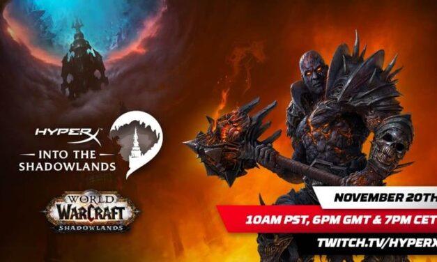 HyperX y Blizzard Entertainment se unen para celebrar el lanzamiento de World of Warcraft: Shadowlands