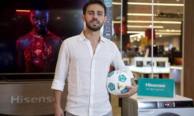 El jugador Bernardo Silva se convierte en el nuevo embajador de Hisense