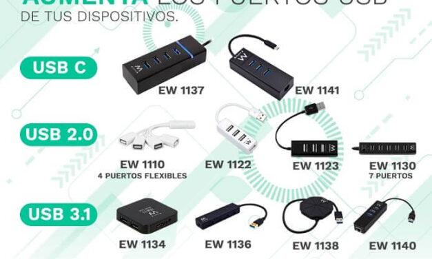 Ewent amplía su línea de HUBs USB
