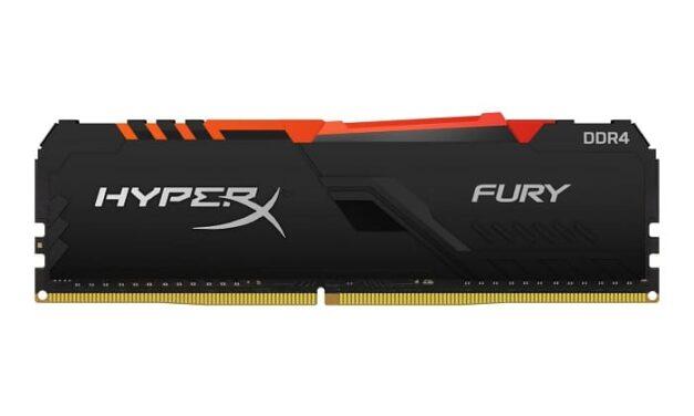 HyperX anuncia adiciones de SKU de memoria FURY DDR4 RGB