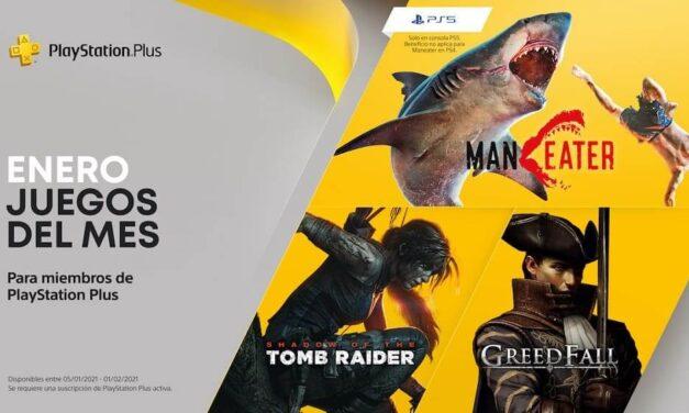 Shadow of the Tomb Raider, GreedFall, Maneater y Dawn of Fear son los nuevos títulos para PlayStation Plus en enero