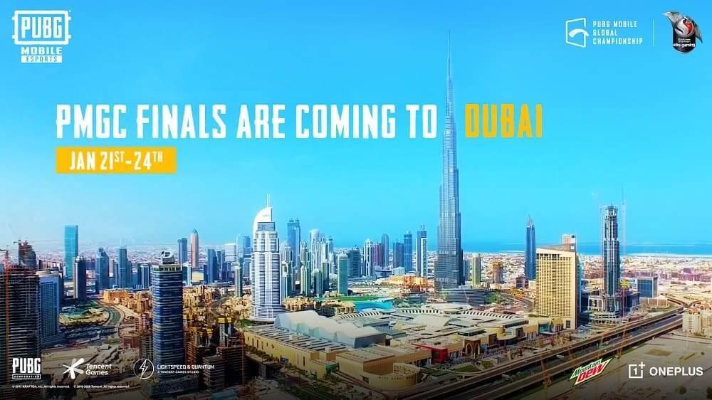 Los 16 mejores equipos del mundo se dirigen a la final del PUBG MOBILE GLOBAL CHAMPIONSHIP 2020 en Dubai