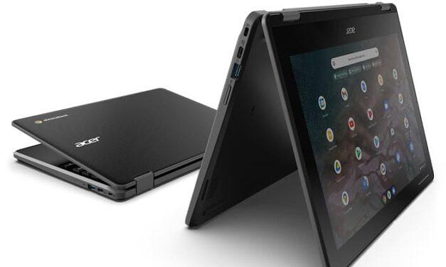 Acer presenta dos nuevos portátiles convertibles y duraderos para el sector de la educación