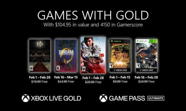 Anunciados los Games with Gold de febrero de 2021