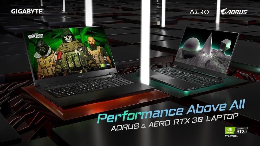 GIGABYTE presenta una nueva línea de portátiles mejorada con las GPU para portátiles NVIDIA GeForce RTX serie 30