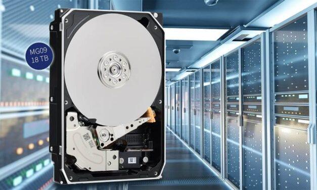 Toshiba lanza nuevas unidades de discos duros de la serie MG09 con una capacidad de 18 TB