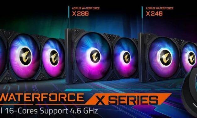Gigabyte lanza el refrigerador líquido todo en uno Aorus WaterForce X Series