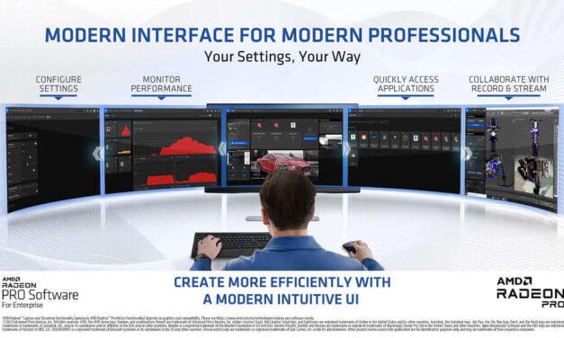 El driver Radeon PRO Software para Empresas 21.Q1 presenta una nueva interfaz para una mayor eficiencia y productividad