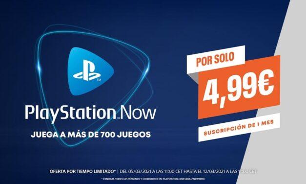 La suscripción de un mes de PlayStation Now disponible a 4,99€ por tiempo limitado