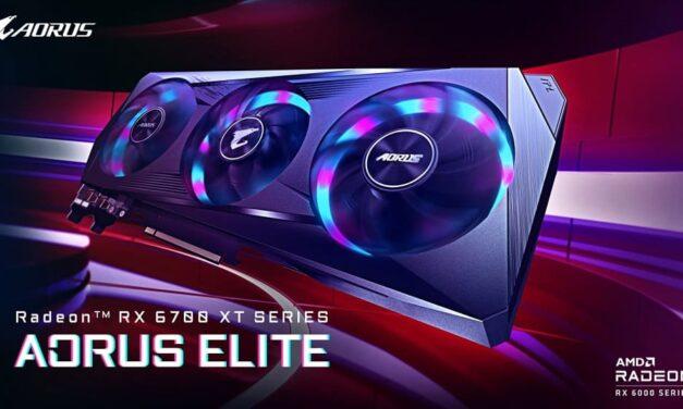 GIGABYTE lanza la tarjeta gráfica AORUS Radeon RX 6700 XT ELITE