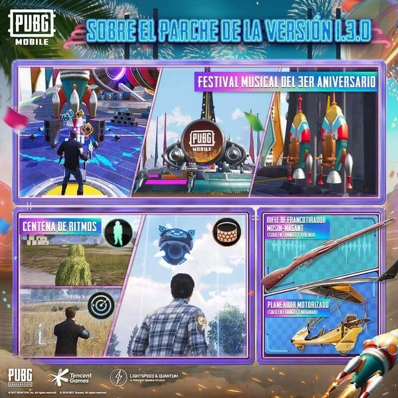 PUBG MOBILE entra al ritmo de la música electrónica con la actualización 1.3