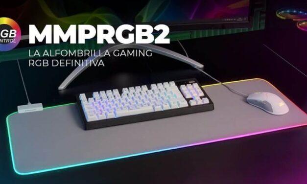 Nueva alfombrilla gaming MMPRGB2 versión blanco plata, la alfombrilla gaming RGB definitiva
