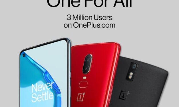 OnePlus consigue más de 3 millones de usuarios registrados en su web en toda Europa