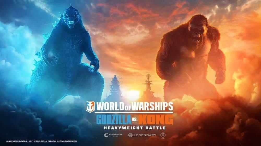 Los titanes cinematográficos Godzilla y Kong lucharán por supremacía en World of Warships