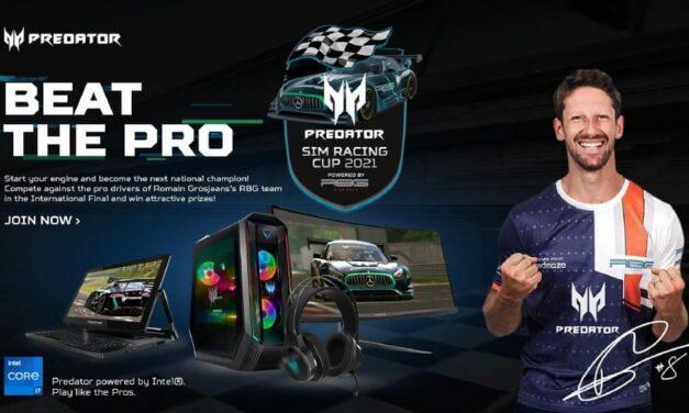 """Acer presenta Predator Sim Racing Cup 2021 con la posibilidad de ganar una experiencia exclusiva que """"el dinero no puede comprar"""""""